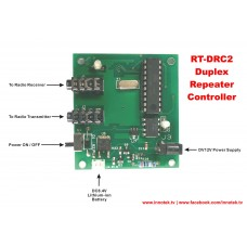 INNOTEK RT-DRC2 Duplex Repeater Controller Module with RT-4PS DIY Radio Connection Cable